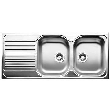 Blanco - Tipo 8 S Compact Sink Drop-In DEB w/ Waste & Plumbing Kit 170x500x1160mm SS Satin Polish