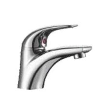 Comap - Omega Basin Mixer Single Lever Pillar-Mounted No Pop-Up Chrome