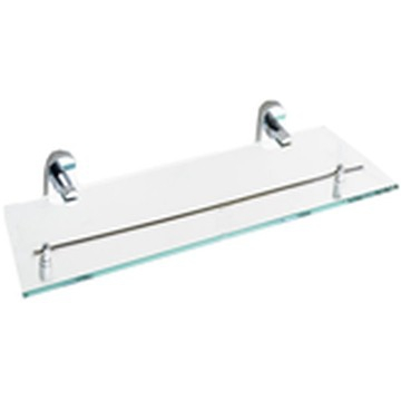 Pearl Glass Shelf Polished Stainless Steel