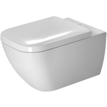 Duravit - Happy D2 Rimless Wall-Mounted Pan 365x540mm White