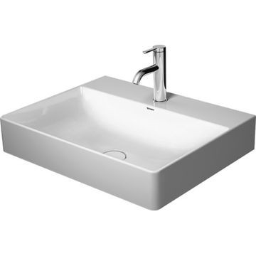 Duravit - DuraSquare Wall-Hung Basin with Ceramic Waste 1 Taphole 600x470mm White