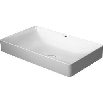 Duravit - DuraSquare Washbowl Ground w/o Overflow w/o Tap Platform 600x345mm White Alpin