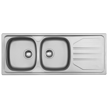 Franke - Nouveau NVN621 Sink DEB 1160x460x149mm w/ BSW Satin Stainless Steel