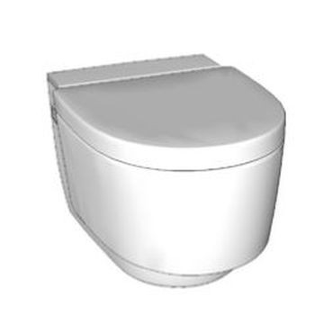 Geberit AquaClean Mera Comfort WC complete solution, wall-hung WC: white alpine