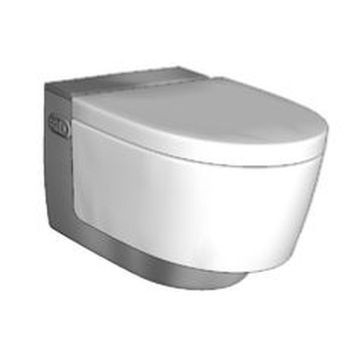 Geberit AquaClean Mera Comfort WC complete solution, wall-hung WC: bright chrome-plated