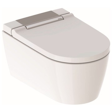 Geberit AquaClean Sela WC complete solution, wall-hung WC: bright chrome-plated