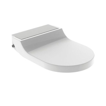 Geberit AquaClean Tuma Comfort WC enhancement solution: stainless steel brushed