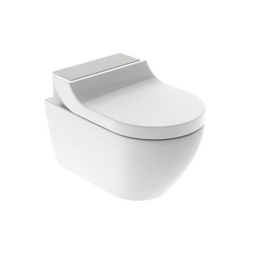Geberit AquaClean Tuma Comfort WC complete solution, wall-hung WC: stainless steel brushed