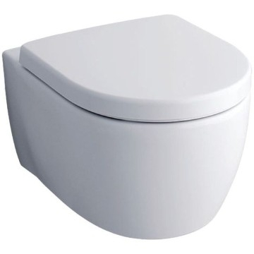 Geberit iCon wall-hung WC, washdown, shrouded, Rimfree: T=53cm, white