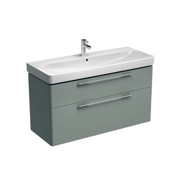Geberit - Smyle Vanity for Basin with Two Drawers B 1168mm x 625mm Light Grey