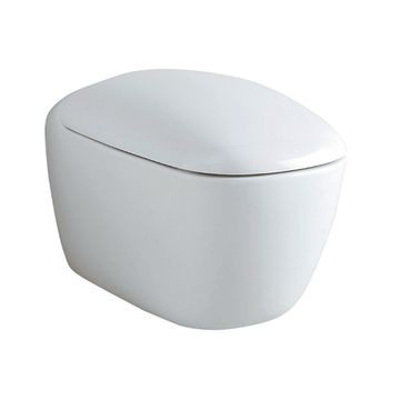 Geberit Citterio wall-hung WC, washdown, shrouded, Rimfree: T=56cm, white / KeraTect