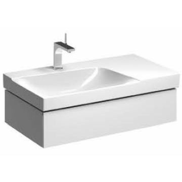 Geberit - Xeno² Vanity for Basin with One Drawer Cut-Out Left B 880x462mm Scultura Grey