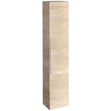Geberit iCon tall cabinet with one door: B=36cm, H=180cm, T=31.7cm, oak nature / wood-textured melamine