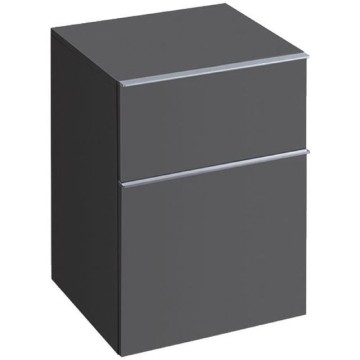 Geberit iCon low cabinet with two drawers: B=45cm, H=60cm, T=47.7cm, lava / matt coated