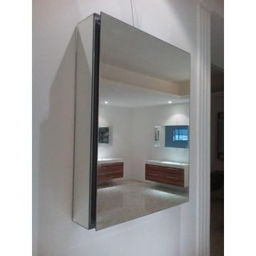 Gio Plumbing - Mirror Cabinet 500x660x127mm Aluminium