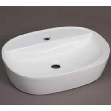 Hammonds - Lima Art Basin Countertop Oval 500x380x120mm White