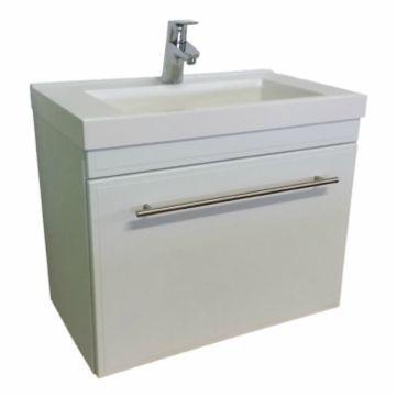 Hammonds - Madeira 600 Wall-Hung Vanity Cabinet & Basin w/ Drawer White High Gloss