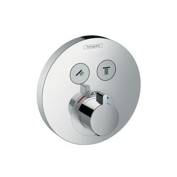 Hansgrohe - ShowerSelect S Thermostatic Mixer 2 Outlets Chrome