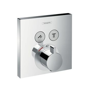 Hansgrohe - ShowerSelect Thermostatic Mixer Conc. 2 Outlets Chrome