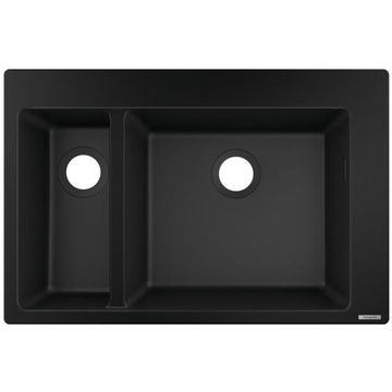 Hansgrohe - S510-F635 Built-In Sink 180/450 770x510mm Graphite Black