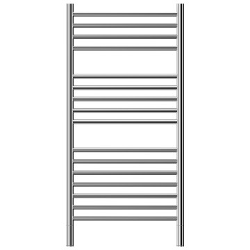 Jeeves - Classic 16 Heated Towel Rail 520x1065mm Polished Stainless Steel