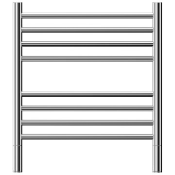 Jeeves - Classic 8 Heated Towel Rail Polished Stainless Steel