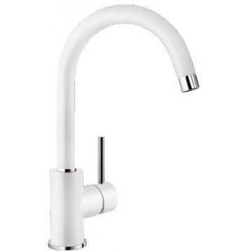 Blanco - Mida (Sil) Sink Mixer Single Lever Pillar-Mounted White