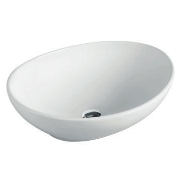 Lecico - Adesso Ovale Countertop Basin 410x330x140mm White