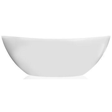 Livingstone Baths - Perlato Petite Bath Freestanding Oval 1500x780x560mm White