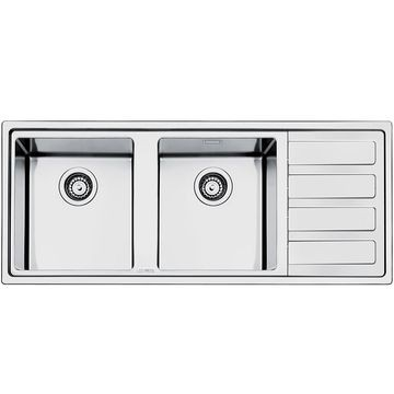 Smeg - Mira Double Bowl Sink 1160x500x200mm Stainless Steel