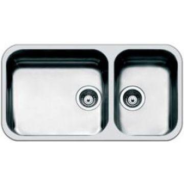 Smeg - Alba Design Sink Underslung 840x460mm Stainless Steel