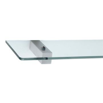 Stunning Bathrooms - Quantum Glass Shelf Polished Stainless Steel