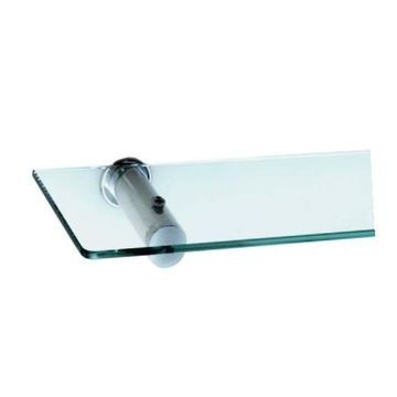 Stunning Bathrooms - Saturn Glass Shelf Polished Stainless Steel