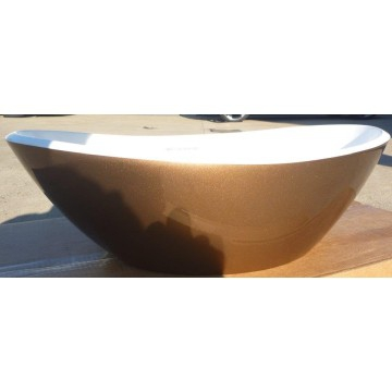 Victoria & Albert - Amalfi Rimless Countertop Basin 550mm Rose Gold