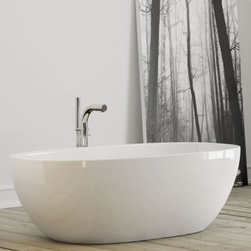 Victoria & Albert - Barcelona Freestanding Double-Ended Bath no Overflow 1785x875x554mm Matt White