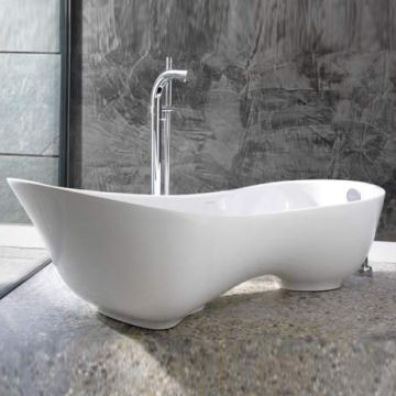Victoria & Albert - Cabrits Contemporary Freestanding Slipper Bath no Overflow 1739x745x561mm White