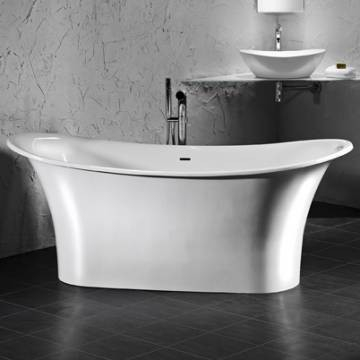 Victoria & Albert - Toulouse Freestanding Double-Ended Bateau Bath no Overflow 1815x800mm White