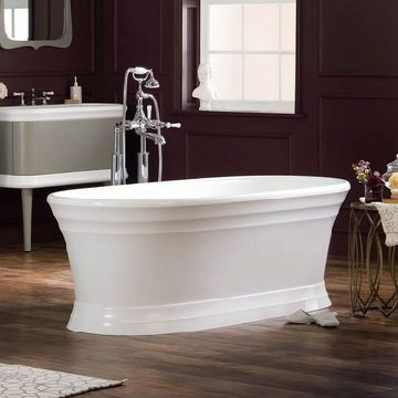 Victoria & Albert - Worcester Traditional Dbl-Ended Bath w/Plinth no Overflow 1789x781x597mm White