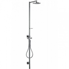 Axor - Starck Shower Column with Thermostatic Mixer & 240 1 Jet Plate Overhead Shower Chrome