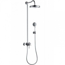 Axor - Montreux Shower Pipe with Thermostatic Mixer & 1 Jet Overhead Shower Chrome
