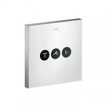 Axor - ShowerSelect Square Valve for 3 Outlets Chrome