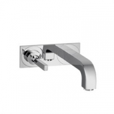 Axor - Citterio Wall-Mounted Single Lever Basin Mixer with Spout 225mm & Plate Chrome