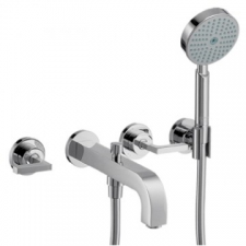 Axor - Citterio Wall-Mounted 3-Hole Bath Mixer with Lever Handles & Escutcheons Chrome