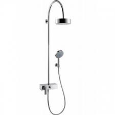 Axor - Citterio Showerpipe with Single Lever Mixer & Overhead Shower 180 1 Jet Chrome
