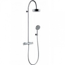 Axor - Citterio Showerpipe with Thermostatic Mixer & Overhead Shower Chrome