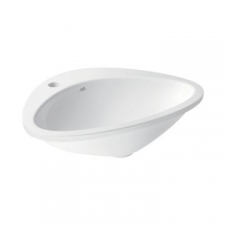 Axor - Massaud Drop-In Wash basin with 1-Taphole 585x469mm White