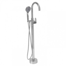 Bore Tide Free Standing Bath Mixer Round with H/S Chrome - BluTide