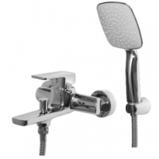 Shore Bath Mixer Wall Type Chrome - BluTide