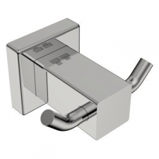 Bathroom Butler - 8500 Double Robe Hook Polished Stainless Steel