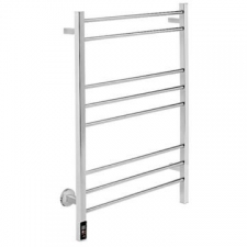 Bathroom Butler - Contour Wide Heated Towel Rail 8 Bar TDC Polished Stainless Steel